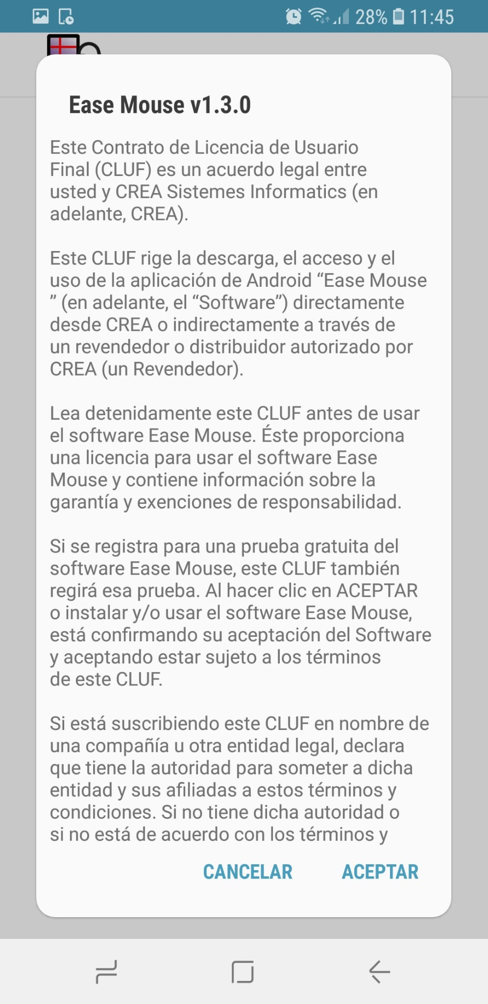 Ease mouse license agreement