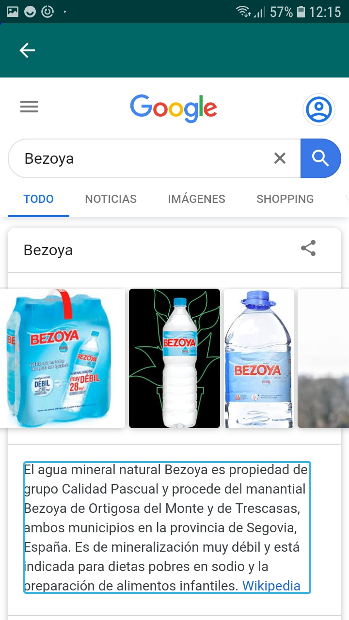Bottle information on Android