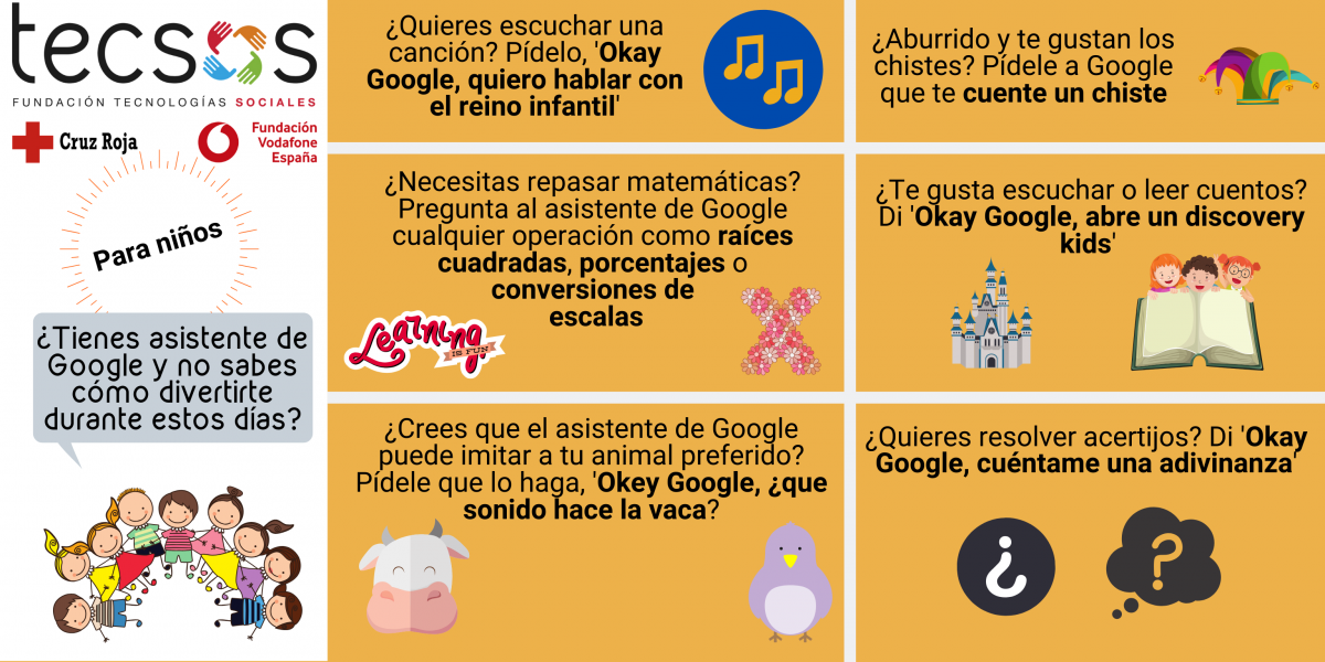 Google Assistant infographic for kids