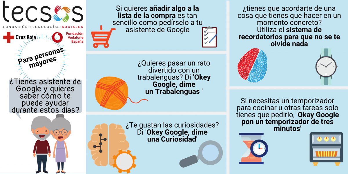 Google Assistant infographic for seniors
