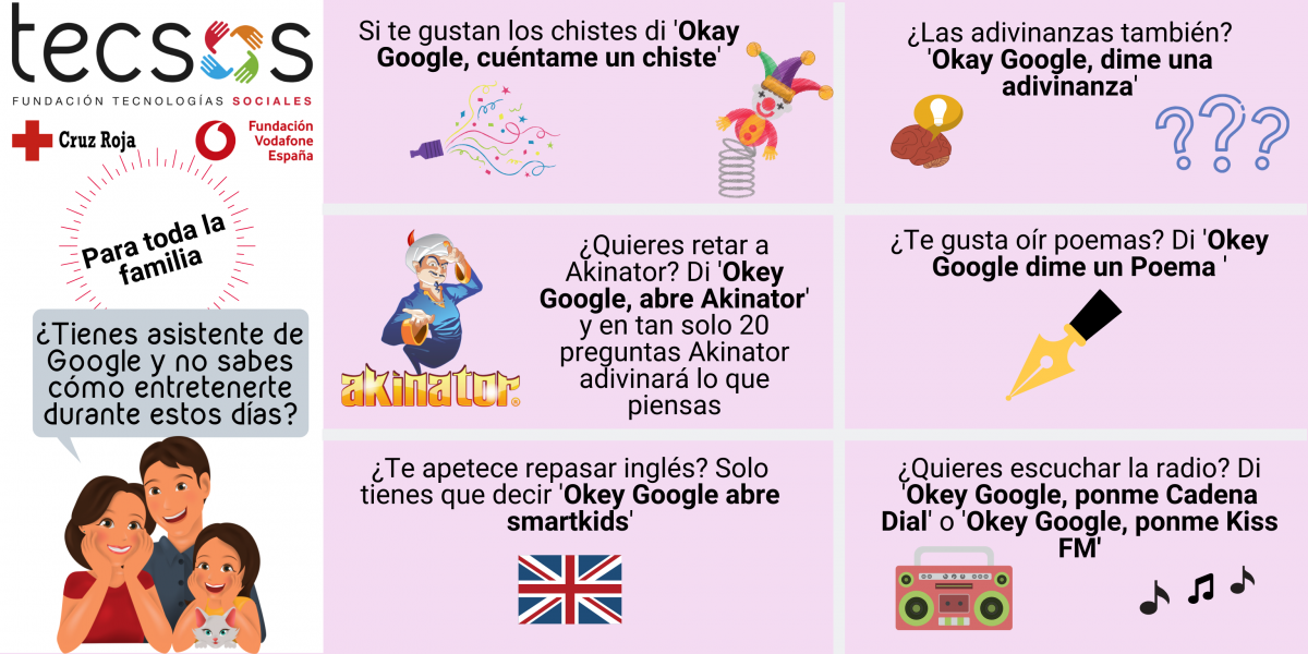 Google Assistant infographic for the whole family