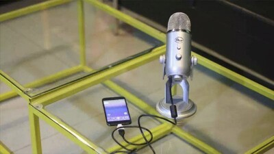 High-quality external microphone for meetings