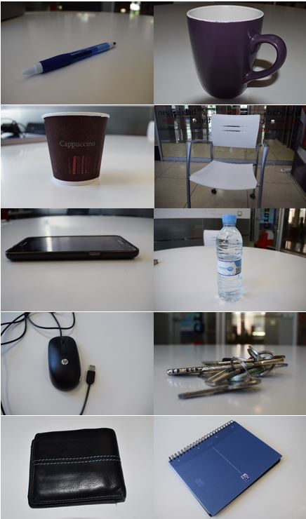 Objects used for test