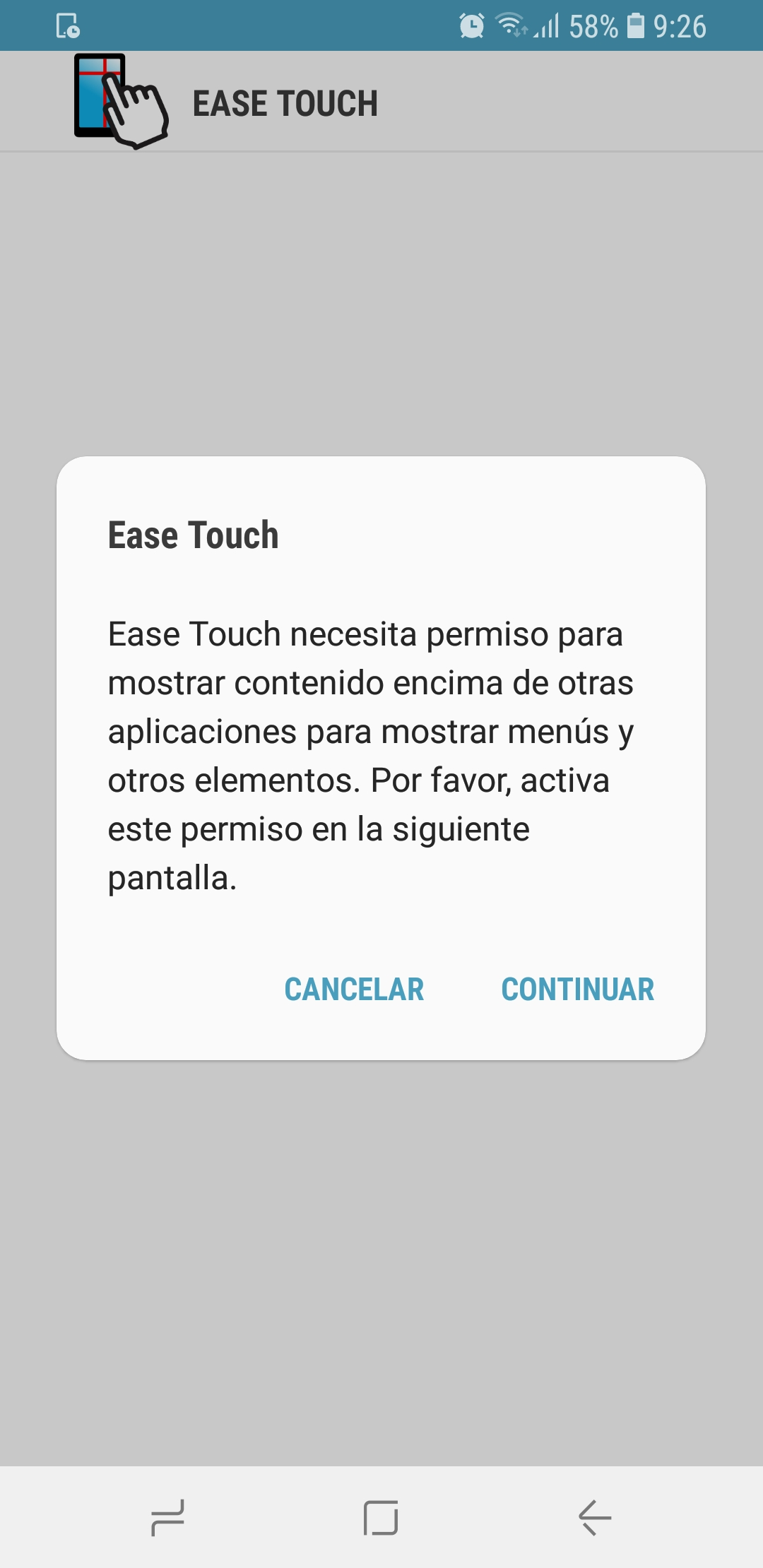 Ease touch permissions