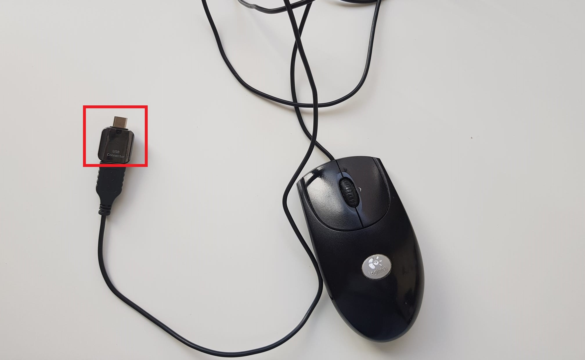 Mouse with adapter for app ease joypad