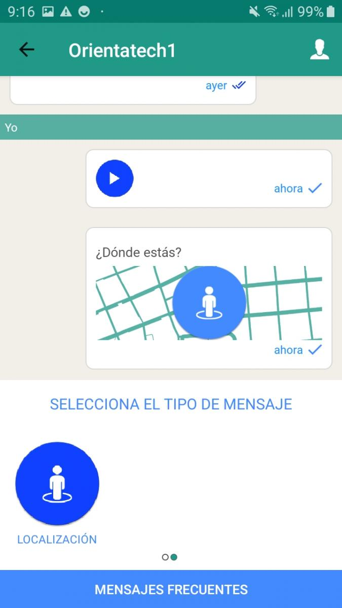 Example send location in a chat