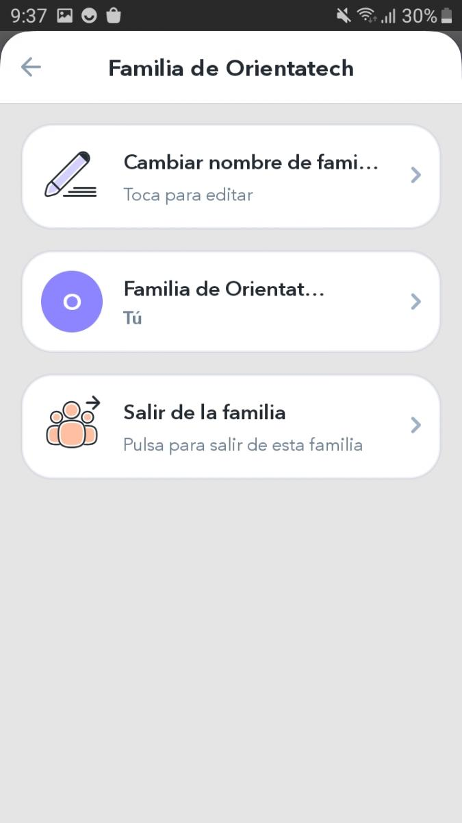 Family interface
