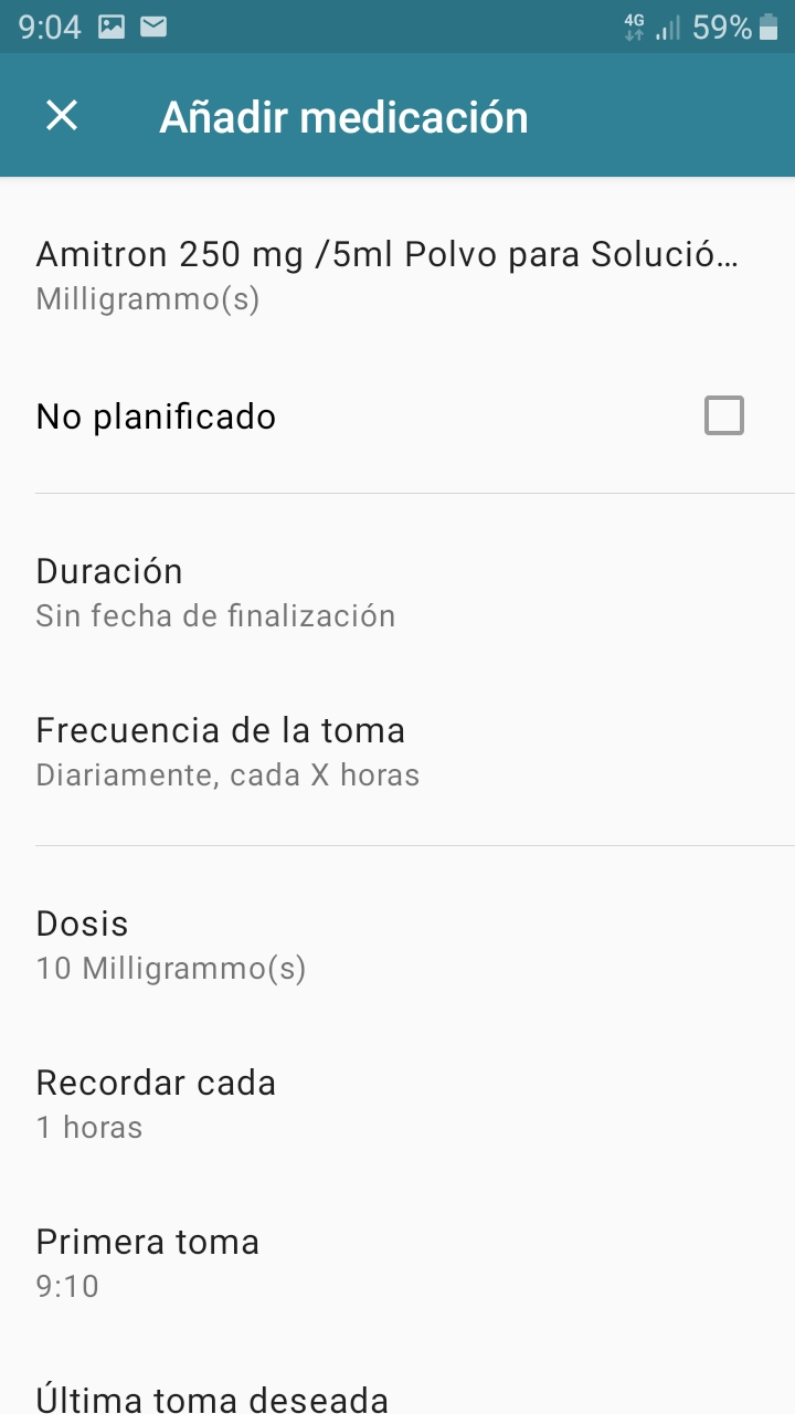 Add medication on Android
