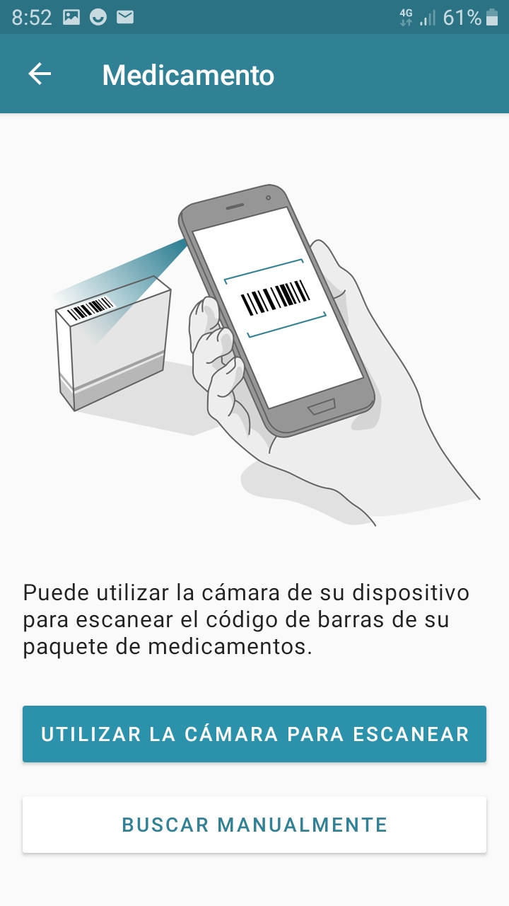 Introducir medicamento en Android