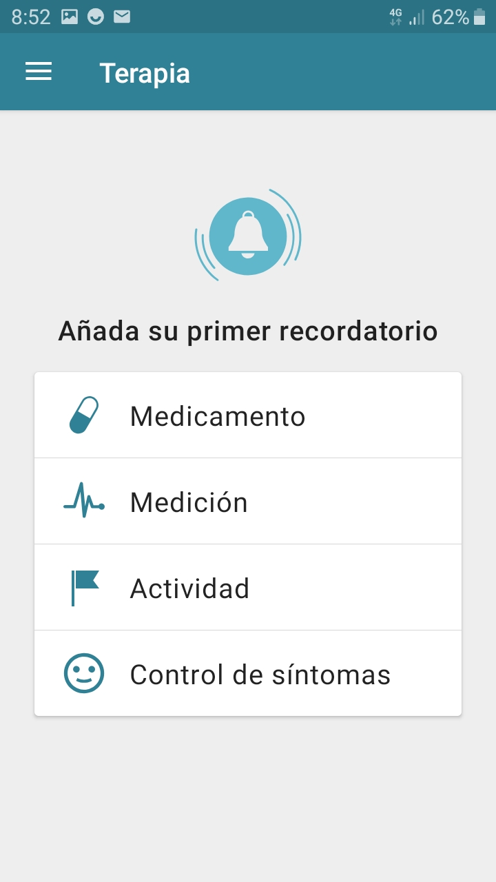 Therapy section on Android