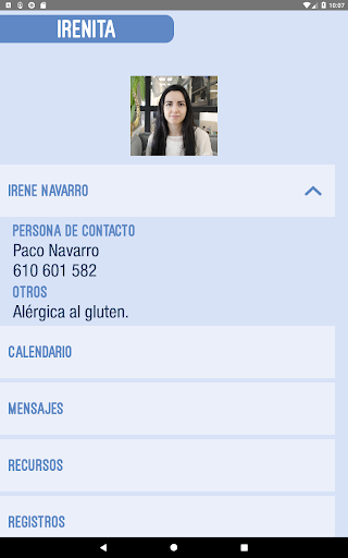 Example of contacts