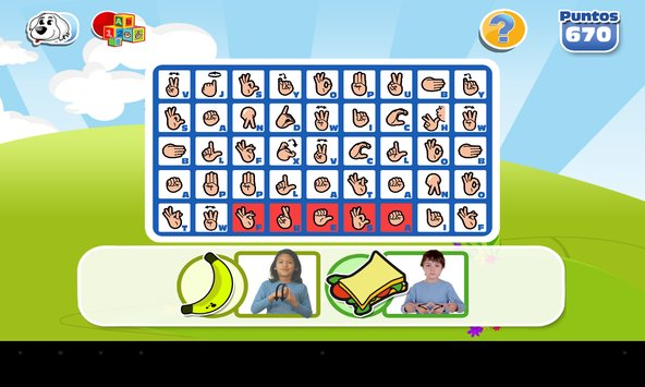 Example of one of the Cocosigna application games