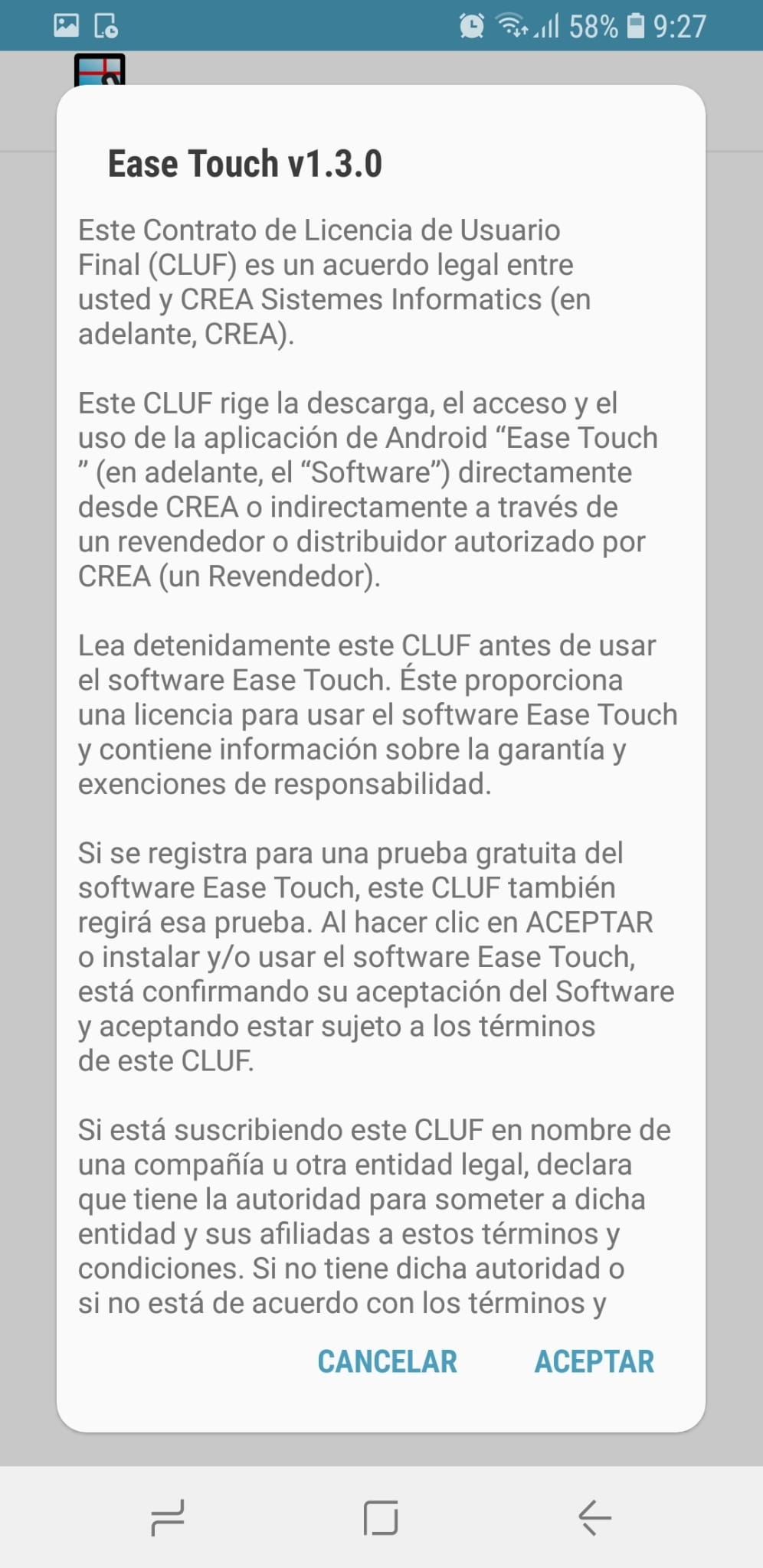Licencia ease touch