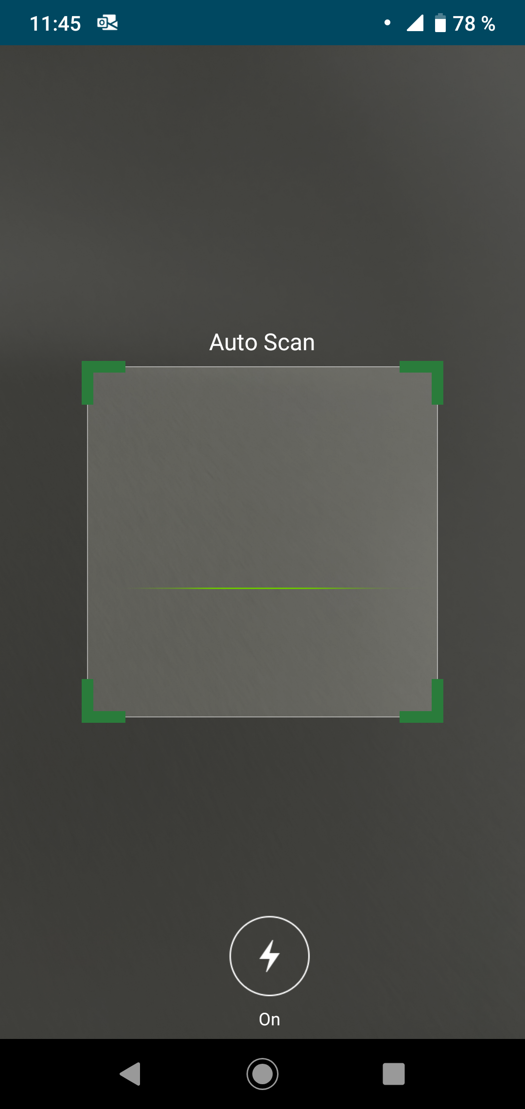 Code scan screen