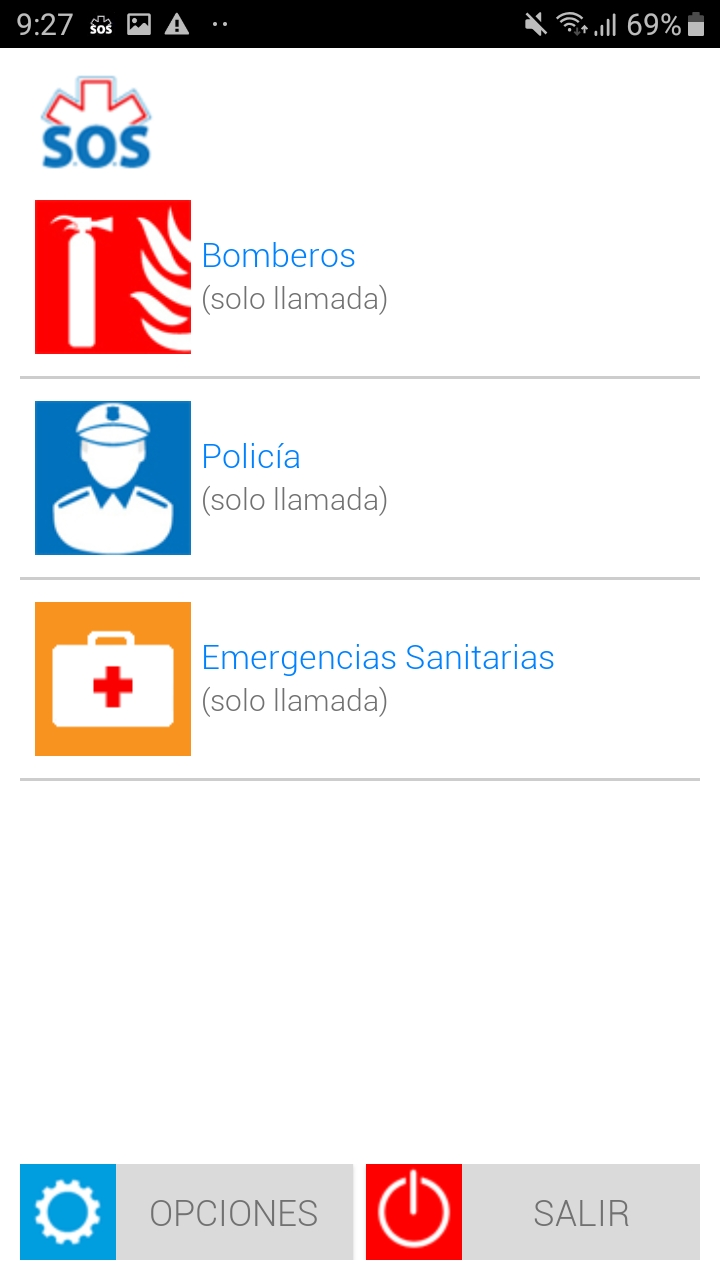 Example of emergency services available in a locality