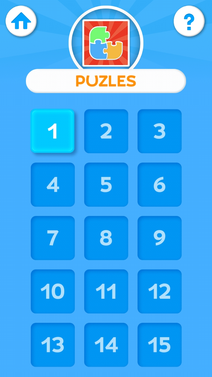 Example Puzzle Game in the App