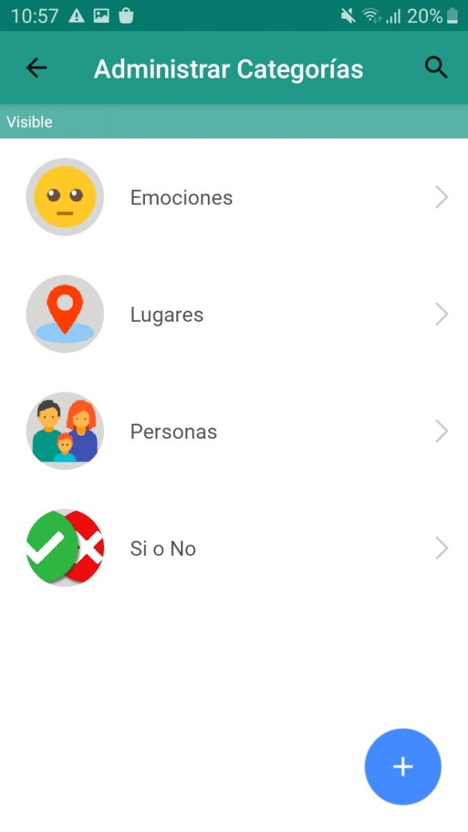 Manage Pictogram Categories Settings