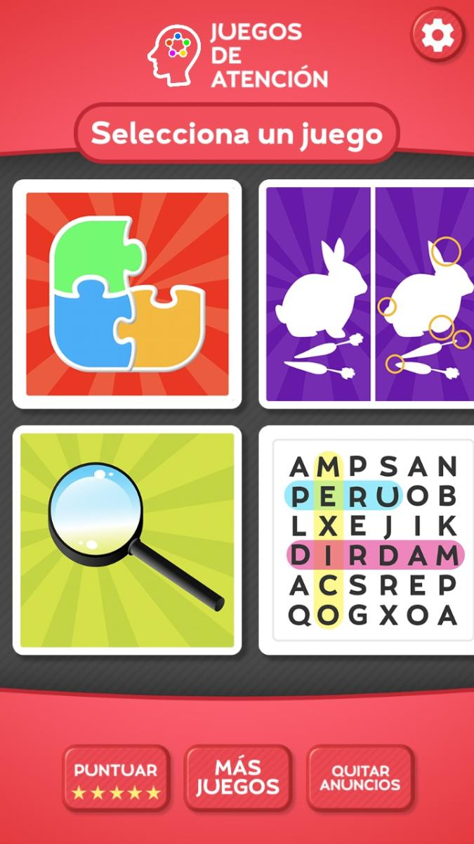 Example of some of the games available in the app