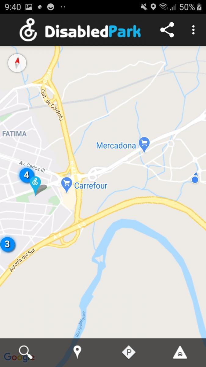 Example of parking search using our location